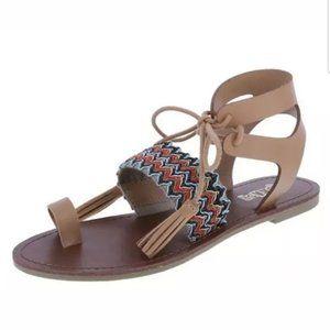 Brash Lace Up Ankle Strap Sandal size 9